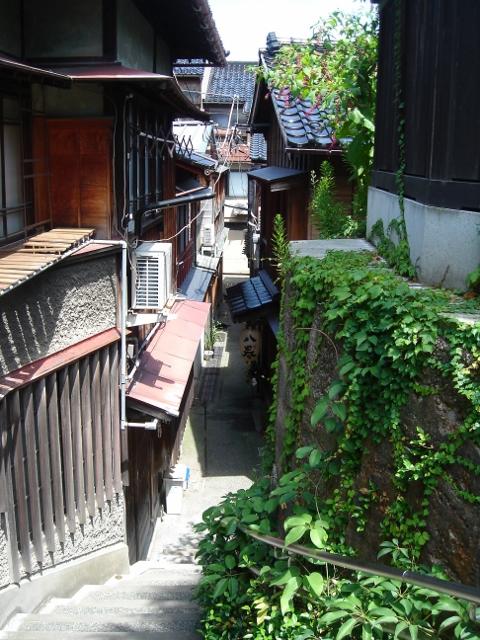 金沢,小道,坂道
